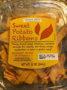 sweet potato ribbons